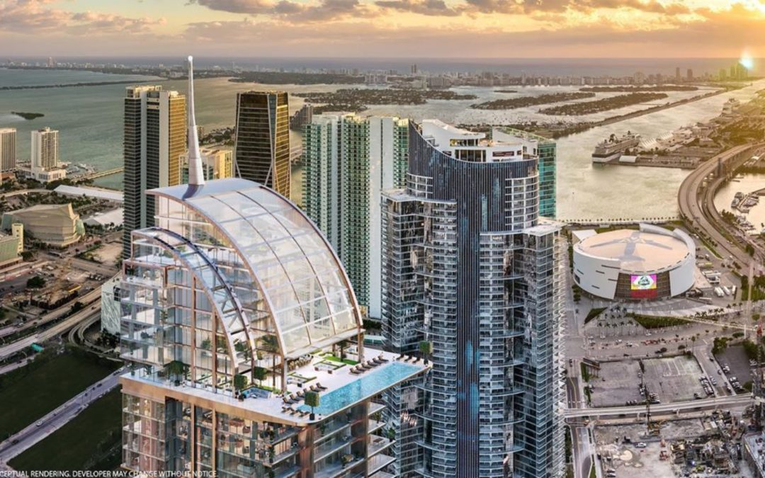 Want to take a dip ? Look at World Center Miami's Newest Skypool