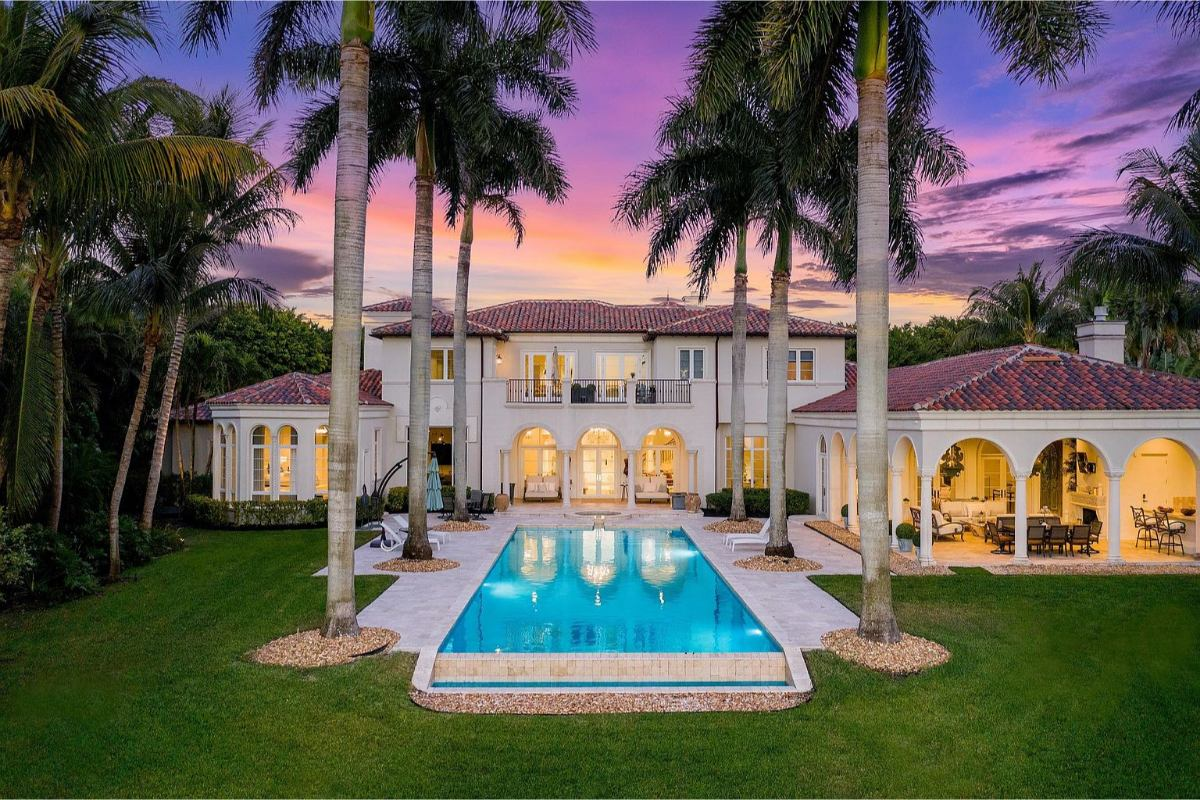 Home Of The Day: A Hamptons Style Lakefront Estate In Boca Raton